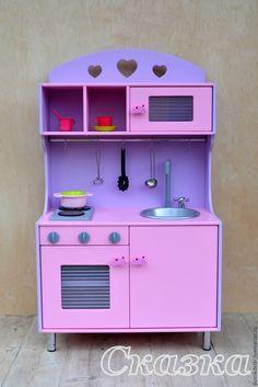 Купить Детская кухня - кухня, кукольный дом, кукольный домик, для детей, мебель…