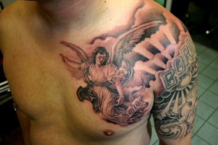 Angel Chest Tattoo by Corey Miller #tattoo #Tattoos #Ink #Angel # ...