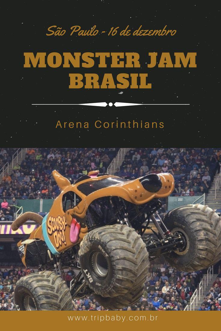 Pela primeira vez no Brasil em São Paulo: Monster Jam. #monsterjam #monsterjambrasil