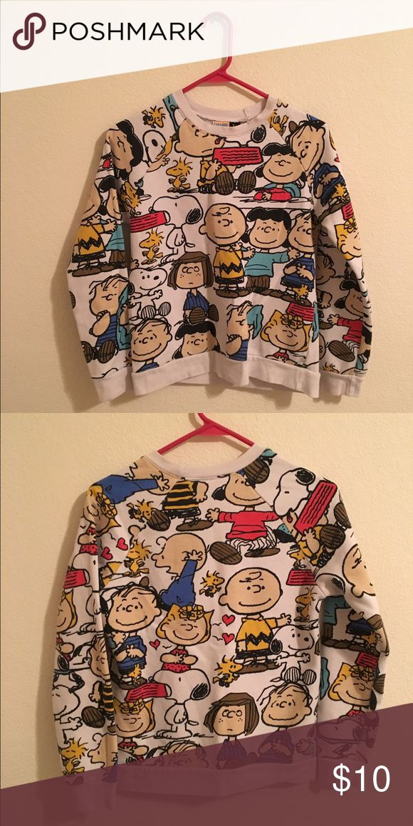 H&M Charlie Brown Sweater! I'm selling my Charlie Brown sweatshirt from H&M. It's a Women's small and I've only worn it twice :) H&M Sweaters Crew & Scoop Necks