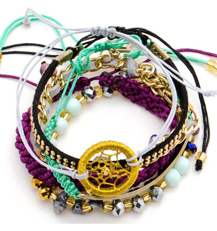 Pulsera Cazador de Sueños y Dijes  | TIENDA ONLINE www.dulceencanto.com #pulseras #accesorios #colombia