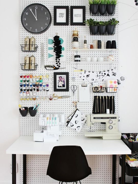 Utility meets style in every room of the home — from the garage to the kitchen to the office — thanks to clever uses of pegboard, a basic organization staple. By Caren Baginski, HGTV.com More From HGTV.com : 14 Storage Secrets From an Organization Blogger 25 Remodeling Projects You Can Do in a Weekend 10 Simple Solutions for Craft Room Clutter