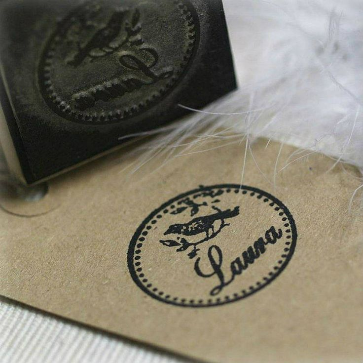 Bird Design Personalised Rubber Stamp | Pretty Rubber Stamps | Not On The High Street