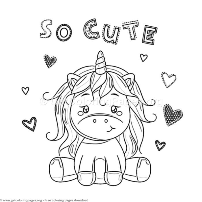 61 Cute Cartoon Unicorn Coloring Pages With Images Unicorn