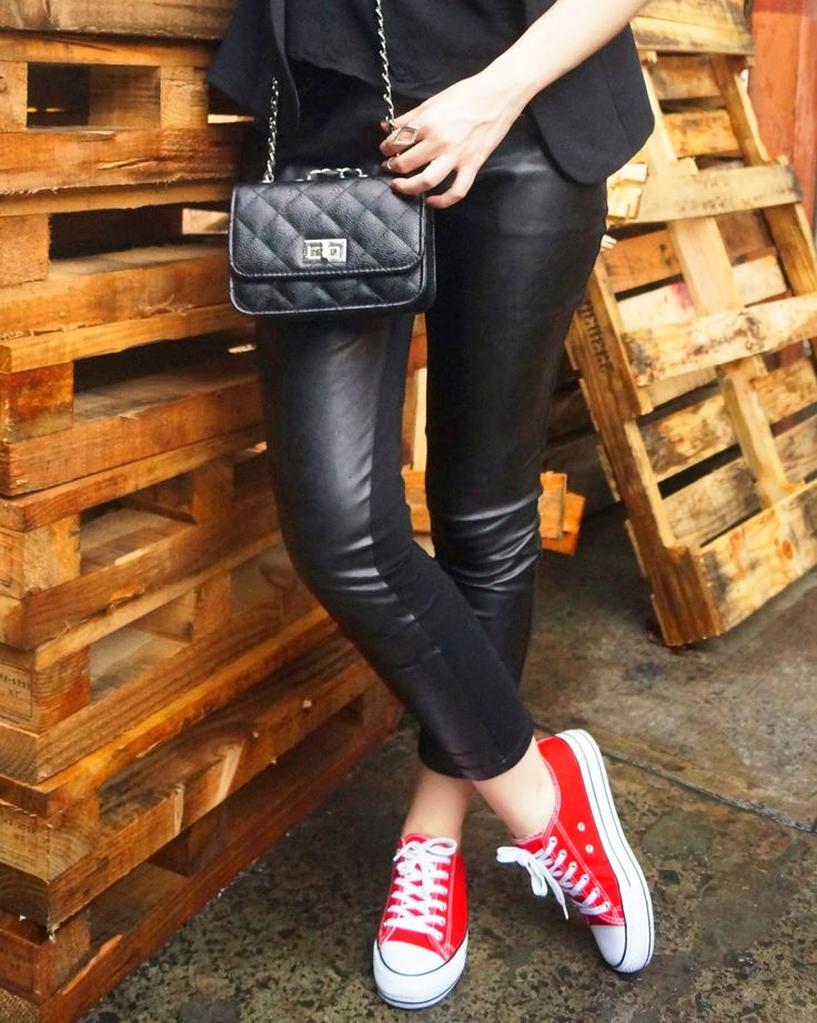 impressive outfit sneakers red 9