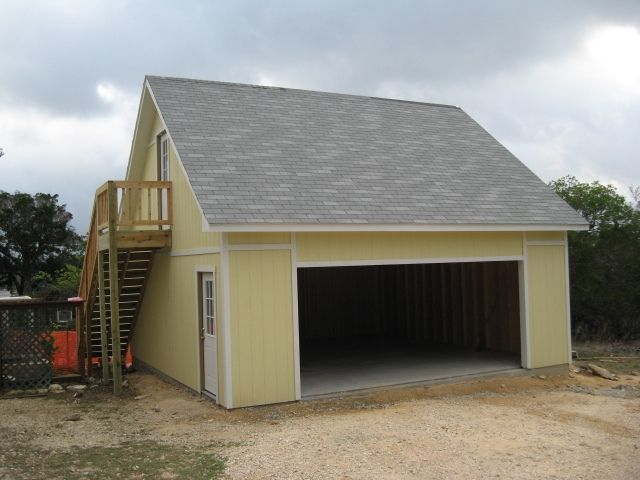 Ranch Garage With Apartment Red Tin Roof Mud Room Lower