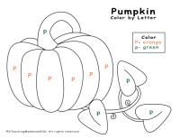 P and pumkin theme