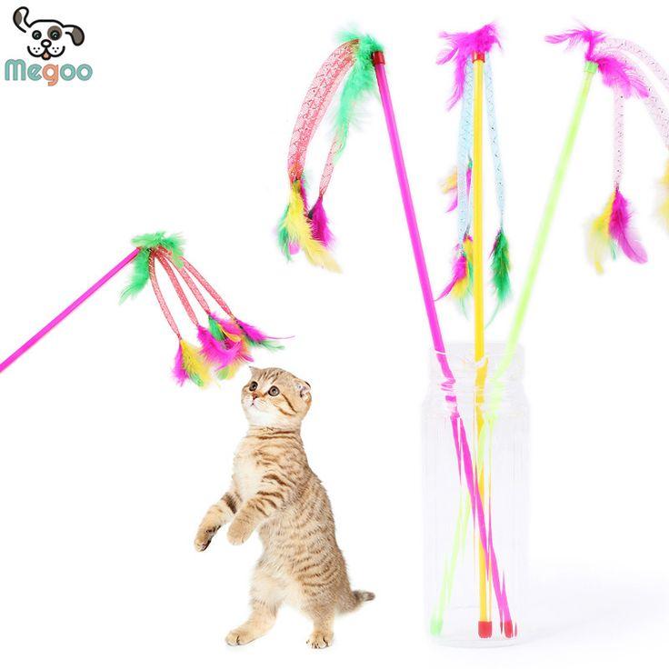 3 Pçs/lote Engraçado Fun Brinquedos Baratos Brinquedos Do Gato Colorido Pena Hastes Do Gato Do Cão Pequeno em Brinquedos para Gato de Home & Garden no AliExpress.com | Alibaba Group