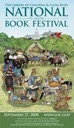 2008 Library of Congress National Book Festival Poster. Poster Artist: Jan Brett.