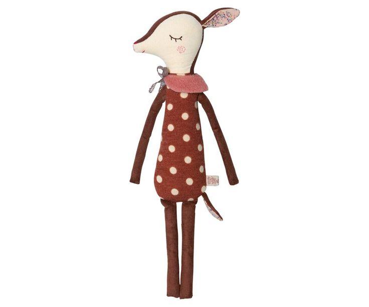 Maileg Bambi Deer Doll, Medium (Dots)