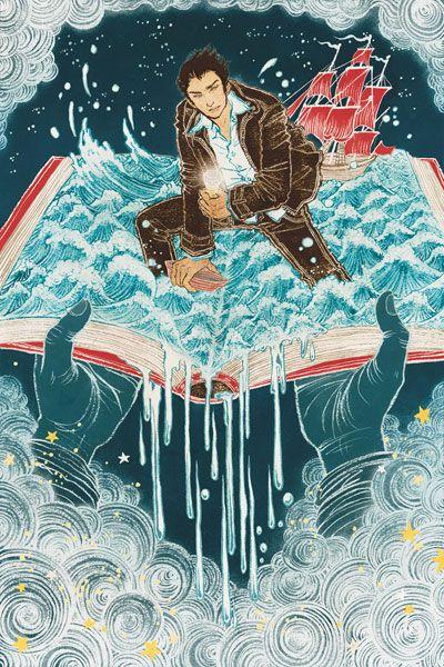 Entre aventuras y aventureros con la lectura (ilustración de Yuko Shimizu)