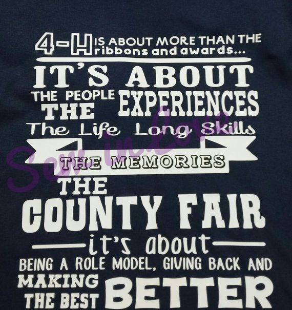 4H...County Girl....County Fair...T-Shirt by SewinLoveByJesse