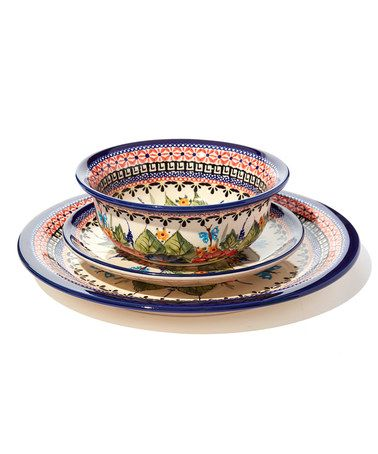 Another great find on #zulily! Butterfly Merry Making Stoneware Dinner Set #zulilyfinds