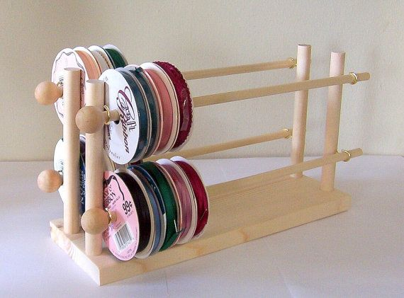 Ribbon Holder Storage Rack Organizer Holds by DeesNecklaceHolders