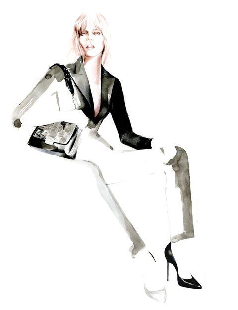 Sketch for Karl Lagerfeld lookbook Fall 2014-15