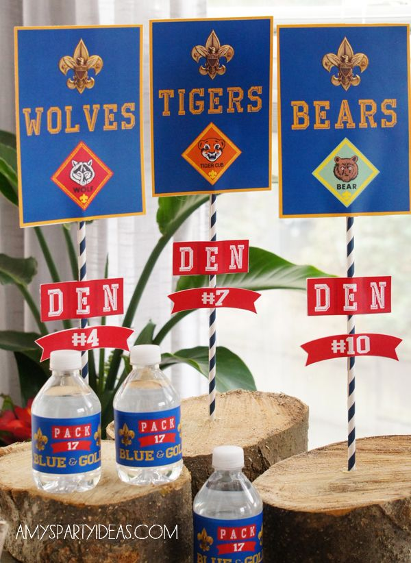 Cub Scout Blue & Gold Ceremony Party Ideas with Printables - Fun idea for Blue and Gold or other Cub Scout meetings!