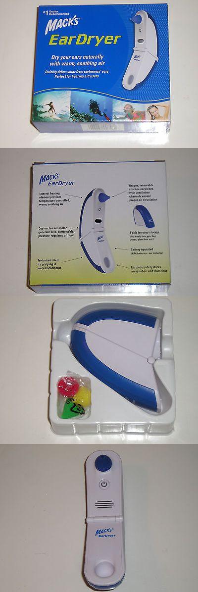 Ear Plugs: Nib New Macks Ear Dryer Drying Aid Swimming Water Sports Swimmers Ear Eardryer BUY IT NOW ONLY: $45.99
