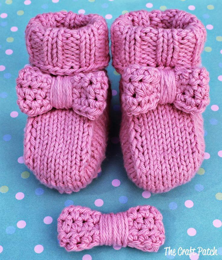 76 besten Baby Booties Bilder auf Pinterest | Baby stricken ...