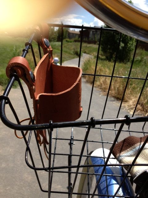 Flower bicycle cup holder bicycle by RockyMountainHolster on Etsy