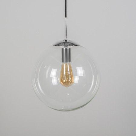 Lampa wisząca Ball 30 przezroczysta chrom