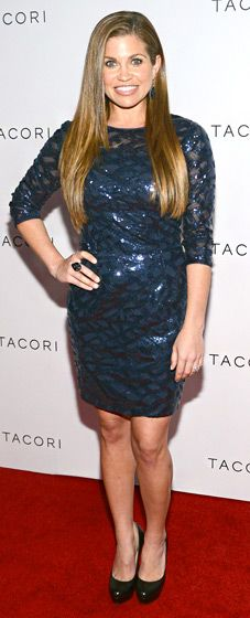 Danielle Fishel dazzled in a glittering midnight-blue mini-dress with three-quarter sleeves at the Oct. 8 Tacori event in West Hollywood.