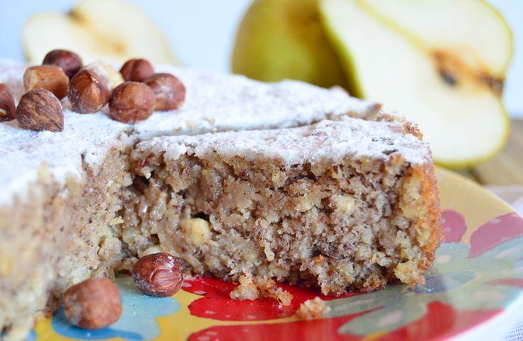 Torta de peras y avellanas