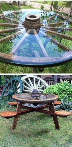 Deco mesa rueda