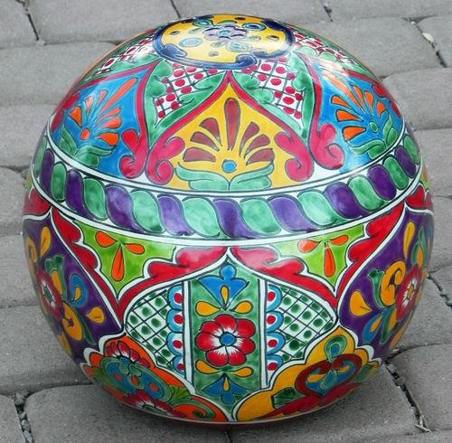 Talavera Pottery Garden Stool Garden Ftempo