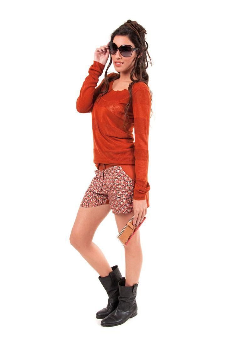 ROSAIRE-056 SKUNKFUNK women's sweater fabric content: 100% viscose color: black,brown price: $109.00