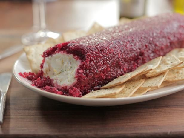 Get Cream Cheese Log with Sweet-and-Spicy Cranberry Relish Recipe from Food Network