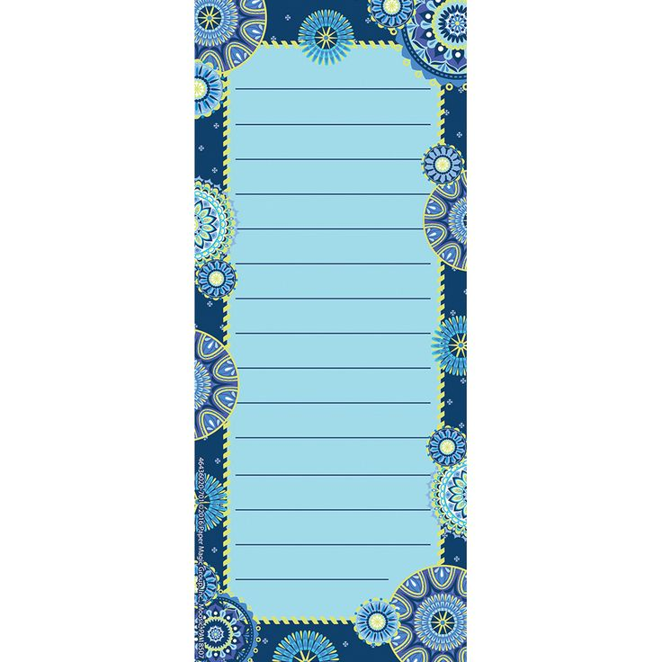 Blue Harmony Note Pad, Classroom Supplies, Office Supplies