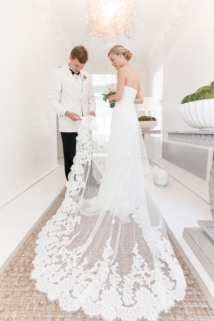 Lace wedding dress open back say yes dress  The  best images about Bridal fashion on Pinterest  Aire