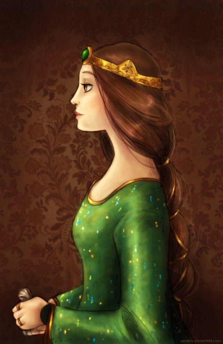 "Beautiful Elegant Queen / Bella Regina Elegante - Art by Arbetta on deviantART, ""Elinor portrait"""