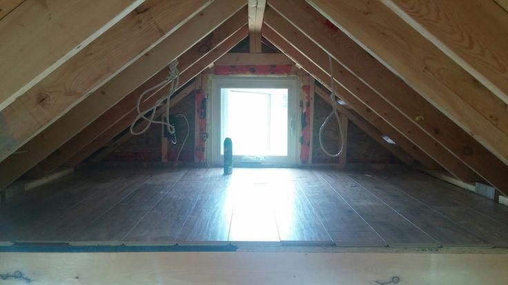 Day 39 - flooring in secondary loft