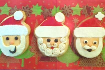Receta Galletas decoradas con fondant para navidad, papa noel, Fácil, Postre