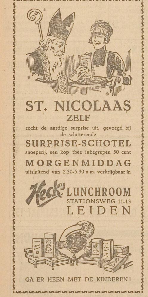 Sinterklaas advertentie 1926