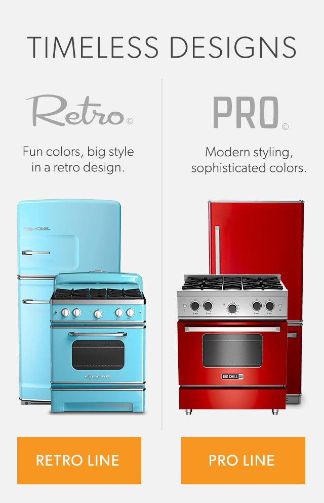 big chill professional and retro ranges refrigerators and kitchen appliances - Modern Home Appliances