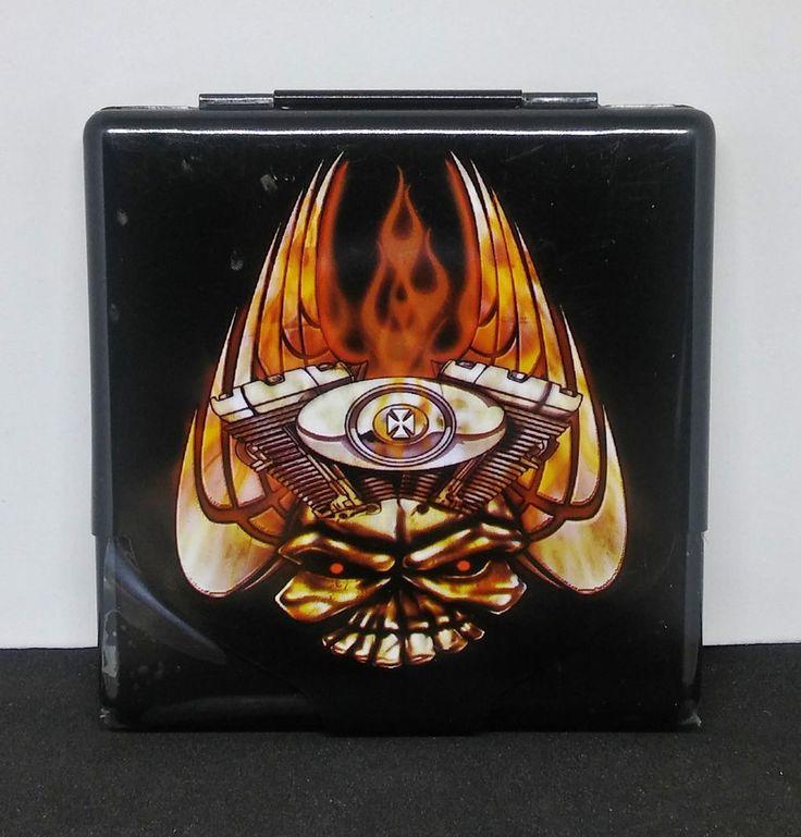 Nulite Motorhead Skull Tin Metal Flat Profile King Size Cigarette Case