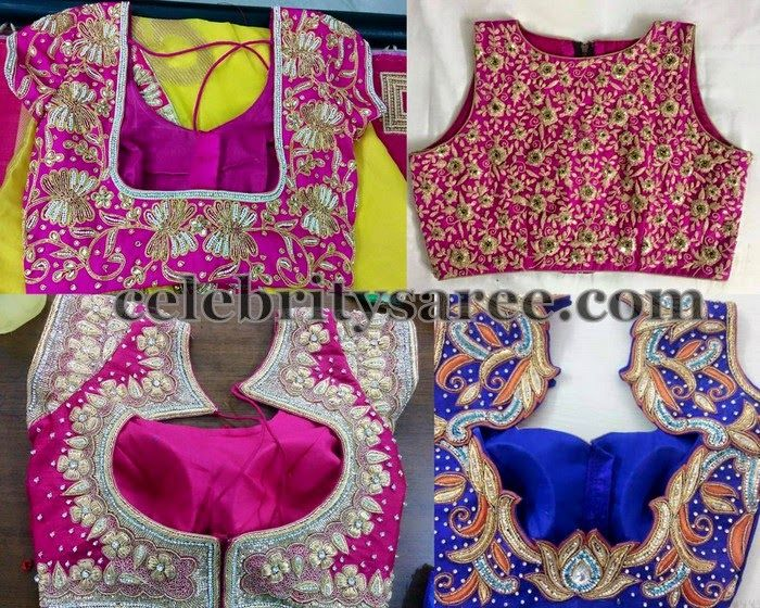 Colorful Blouse Designs for Silk Saris | Saree Blouse Patterns