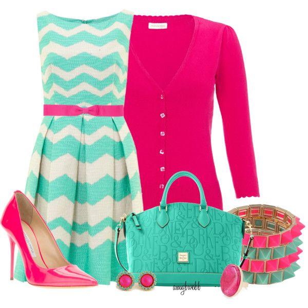 Chevron Dress LOVE the colors
