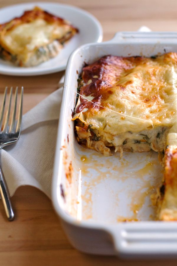 Creamy Chicken Caesar Lasagna - my husband's new favorite!