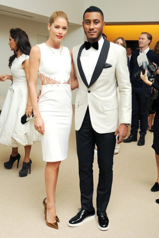 Stars Celebrate Fashion's Finest at the CFDA/Vogue Awards: Julianne Moore : Doutzen Kroes and Sunnery James