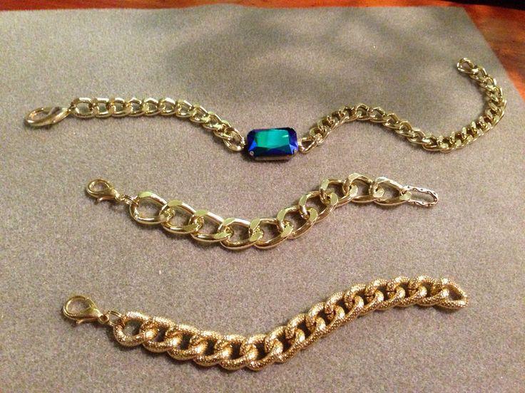 A Beautiful Swarovski Crystal Double Wrap Bracelet, and Two of my other gold bracelets!