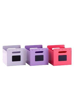 Vertbaudet Förvaringslådor 3-pack Blå, Lila - Småförvaring | Ellos Mobile