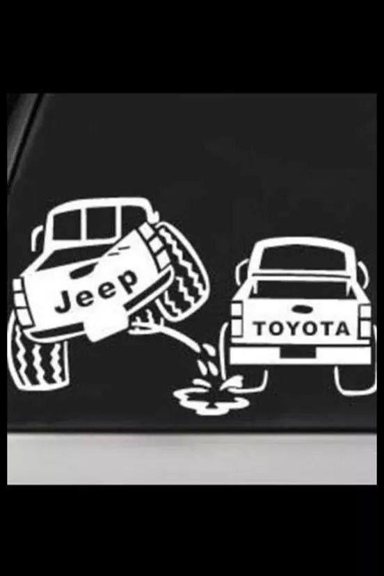 OIIIIIIO Lol! I own a Jeep my husband owns a Yota!