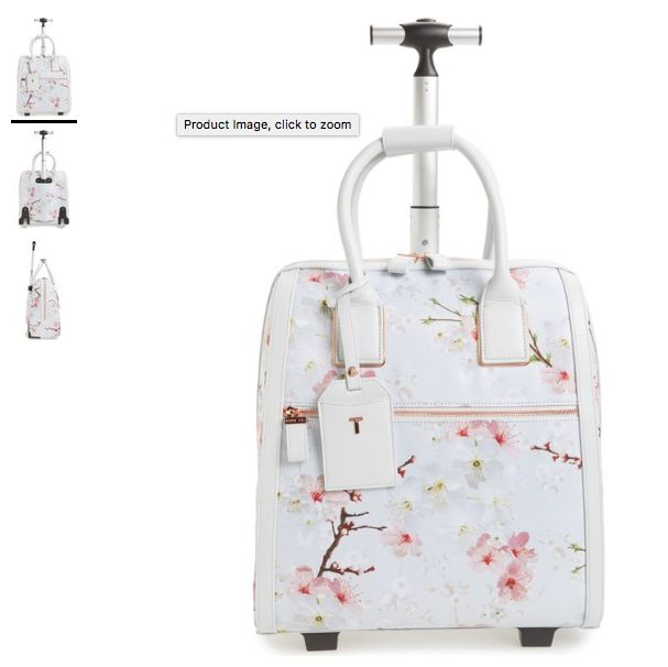 Alternate Image 1 Selected - Ted Baker London Alayaa Cherry Blossom Two-Wheel Travel Bag (17 Inch)Alternate Image 1 Selected - Ted Baker London Alayaa Cherry Blossom Two-Wheel Travel Bag (17 Inch) Alternate Image 2 - Ted Baker London Alayaa Cherry Blossom Two-Wheel Travel Bag (17 Inch)Alternate Image 2  - Ted Baker London Alayaa Cherry Blossom Two-Wheel Travel Bag (17 Inch) Alternate Image 3 - Ted Baker London Alayaa Cherry Blossom Two-Wheel Travel Bag (17 Inch)Alternate Image 3  - Ted Baker…