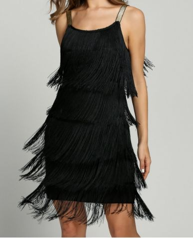 Robe cuir noir wow