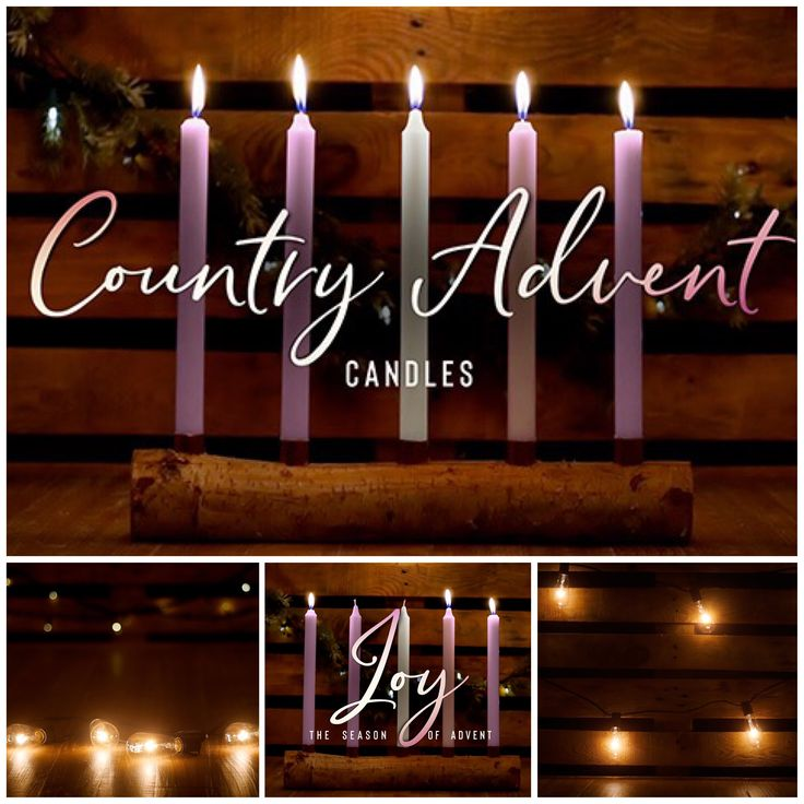 Country Advent Candles Collection. Check out our great