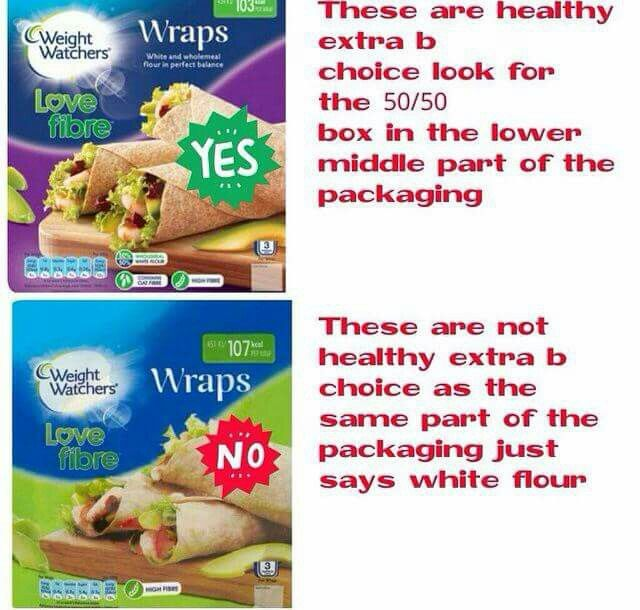 Healthy extra B free wraps  Slimmimg world