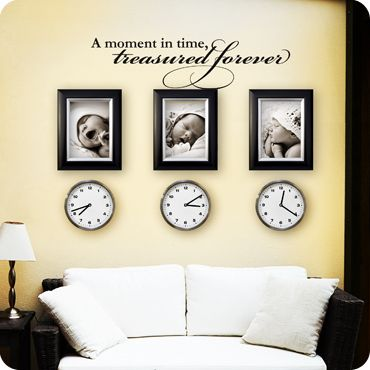 """A moment in time, treasured forever"" A powerful quote like this deserves to be featured in your home. Remind yourself and your family to cherish the good times in life. Memories are precious and worth holding close to our hearts. This wall quote pairs well with family photos and other treasured mementos. This famous quote is a great addition to a wall in your family room, den, home office or bedroom."